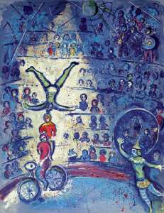 Marc Chagall, Fahrradakrobaten - Marc Chagall / Bicycle Acrobats / 1924 -