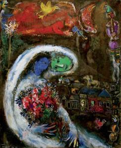 Marc Chagall, Braut mit blauem Gesicht - Marc Chagall / Bride with Blue Face -